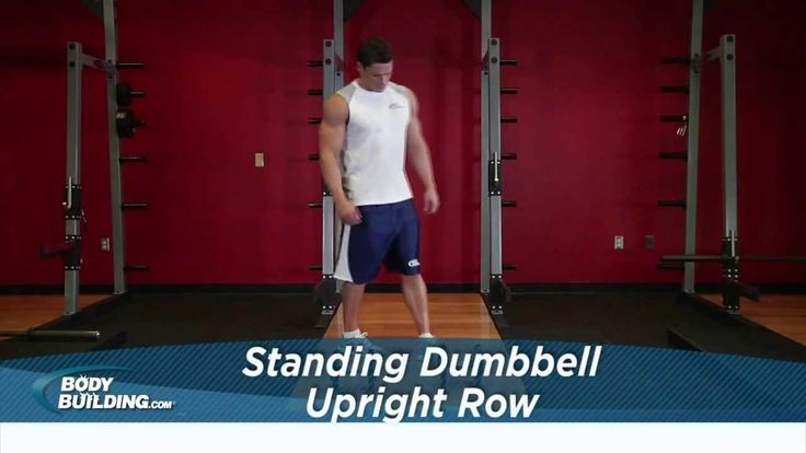 Standing Dumbbell Upright Row - Shoulder Exercise - Bodybuilding.com