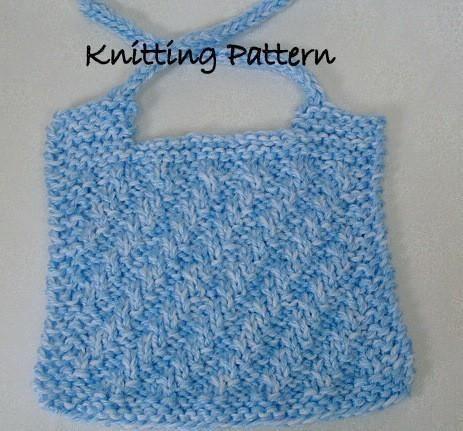 Knitted baby bib - so easy!
