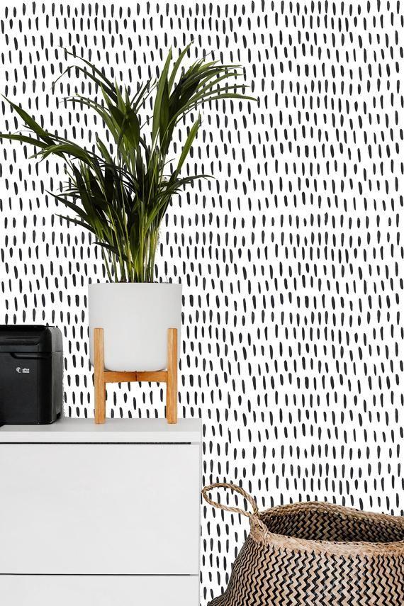 Removable Wallpaper Mural Peel Stick Self Adhesive Wallpaper Etsy Removable Wallpaper Black And White Wallpaper Wallpaper Accent Wall