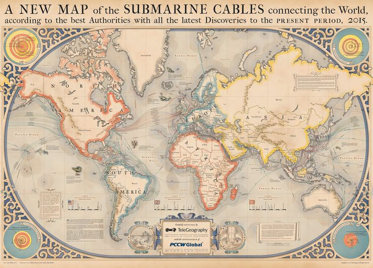 13 best cartografa images on pinterest antique maps antiques the 2015 submarine cable map depicts the 278 undersea communication cables that carry telecommunication signals across the worlds oceans gumiabroncs Choice Image