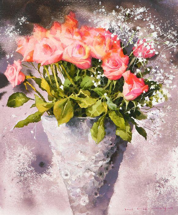 Акварельная нежность цветов от Namtaeksu