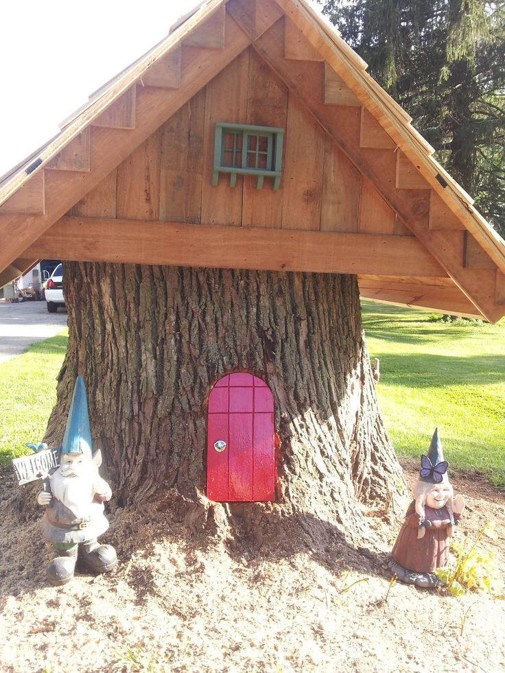 Gnome Tree Stump Home: 21 Best Images About Gnome Houses On Pinterest