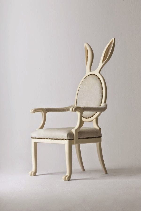 How cute is this rabbit ear chair - would love this for a kids room or a living room, interior inspiration