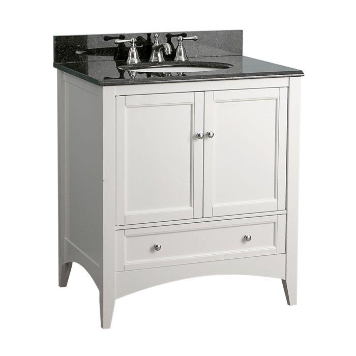 Foremost - Berkshire 30 inch white bathroom vanity
