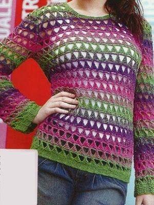 Blouse in crochet yarn. step by step   Crochet patterns free