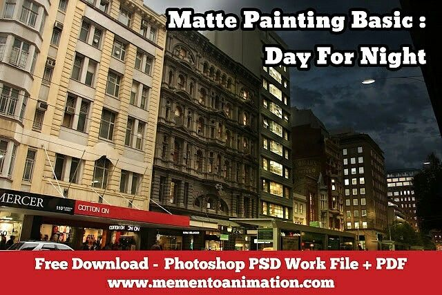Free download of matte painting resources,  includes work file &  pdf tutorial