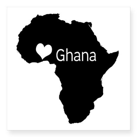 "Ghana Decal 3"" x 3"" on CafePress.com"