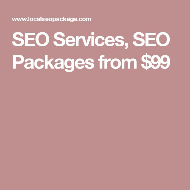 SEO Services, SEO Packages from $99
