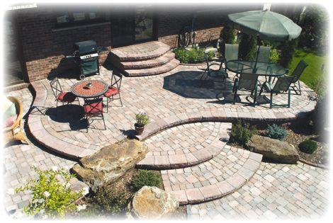 patio: Patio Design, Gardens Ideas, Backyard Ideas, Design Ideas, Landscape Design, Outdoor Spaces, Landscape Ideas, Patio Ideas, Stones Patio
