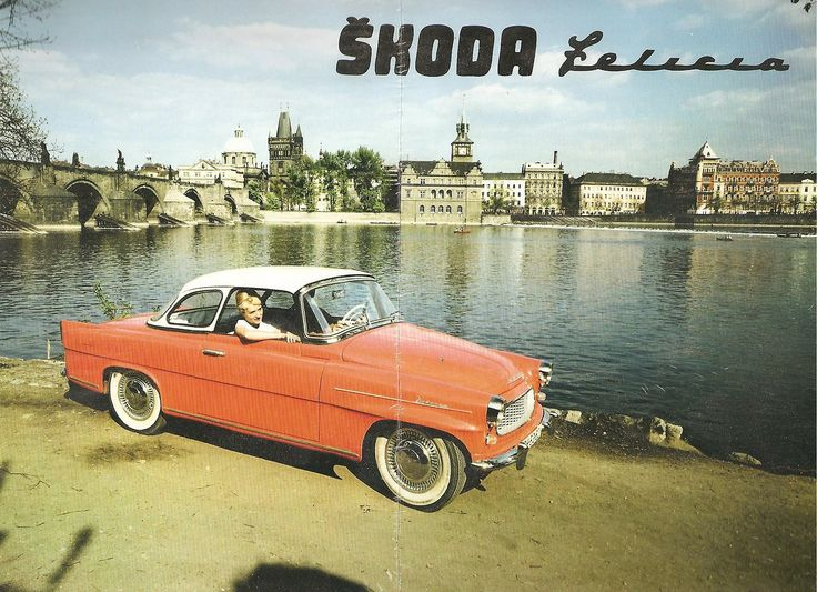 Prague by car: Skoda Felicia near Charles Bridge