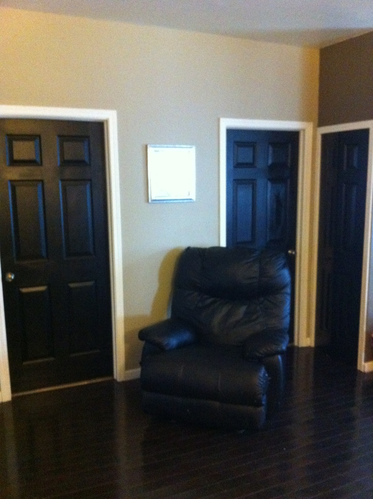 doors interior paint black trim white trim painted doors black doors. Black Bedroom Furniture Sets. Home Design Ideas