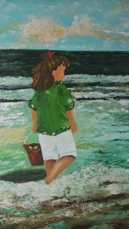 Imaginandote Violeta, cuadro en oleo sobre lienzo,  trabajado con espátula.