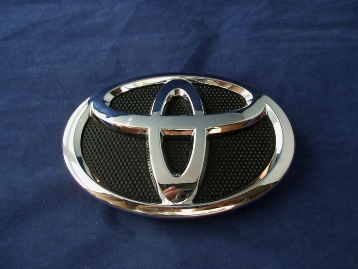 2009-2013 Toyota Corolla Front  Grille Emblem Chrome Black Logo -OEM BRAND NEW! #Toyota