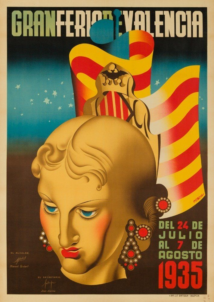 Gran Feria de Valencia Vintage Poster (artist: Renau Montoro) Spain c. 1935 (24x36 Giclee Gallery Print, Wall Decor Travel Poster) -- Want additional info? Click on the image.