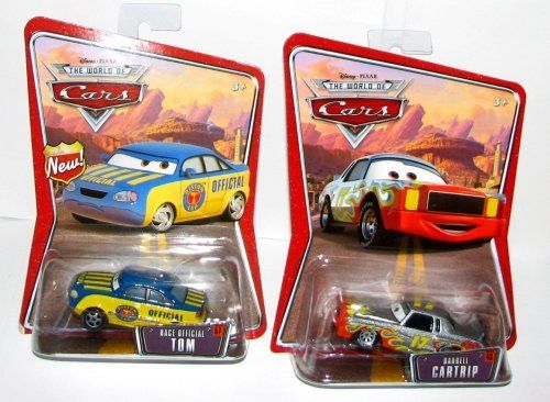 Disney CARS Diecast Car Set~DARRELL CARTRIP & Race Official TOM! by Mattel. $17.77. Ages 3 & UP!. Disney Cars Diecast Car Set - Darrell Cartrip & Race Official Tom!. Car #43 & Car 57 in the World of Cars Series. Set of (2) Disney Pixar Cars!. Disney Cars Diecast Car, Darrell Cartrip - #43 in The World of Cars Series from Disney/Pixar!