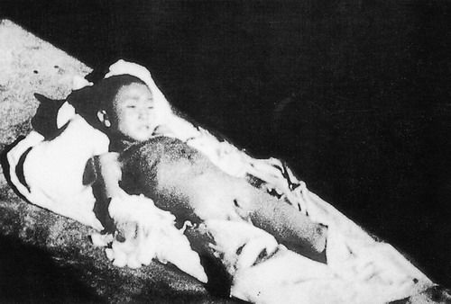 A seven-year-old child bayoneted dead by Japanese in Nanjing Massacre