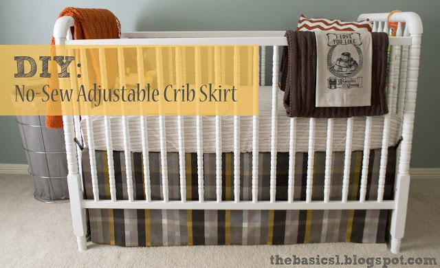 diy no sew crib skirt it looks so easy and much cheaper. Black Bedroom Furniture Sets. Home Design Ideas