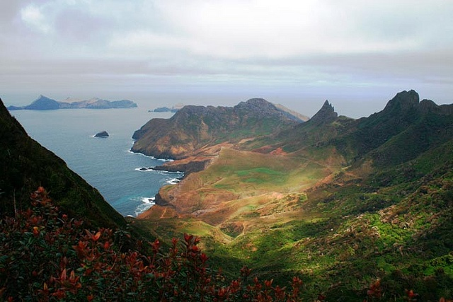 Robinson Crusoe Island - part of the Juan Fernandez Islands of Chile.