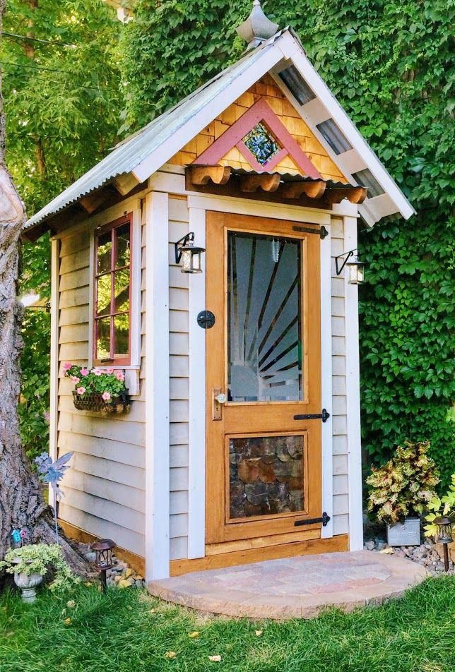 Lovely Back120   Home She Shed/garden House #homeandgarden