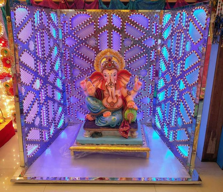17 Best Images About Ganpati Decorations On Pinterest