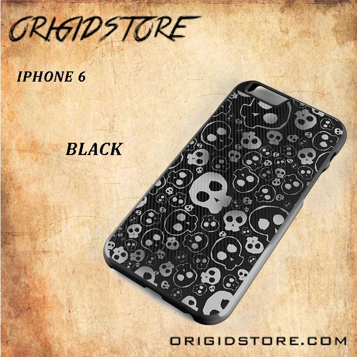 Skull Patterns Snap on 2D Black and White Or 3D Suitable With Image For Iphone 6 Case