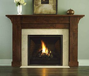 Gas Fireplace Stone Surround | Gas Fireplaces - Heat & Glo Direct Vent Gas Fireplace - Darboy Stone ...