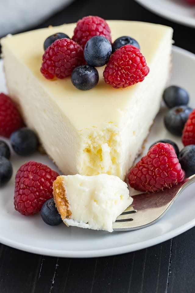 Luscious and creamy, this cheesecake is truly the best.
