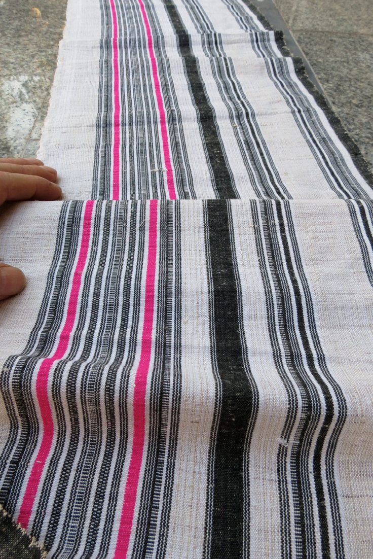 Hmong  cotton and hemp Vintage fabrics and  textiles - from thailand. $25.00, via Etsy.