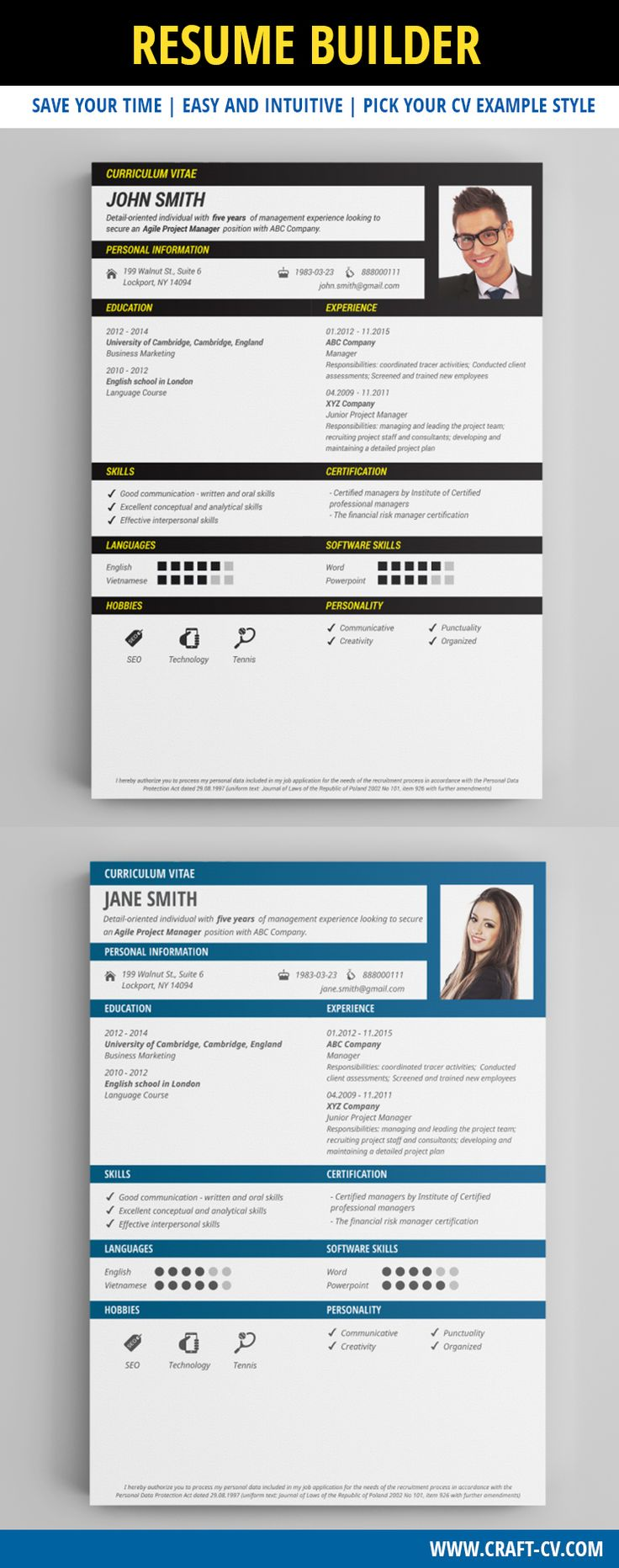 21 Best Creative Cv Templates Download Images On Pinterest