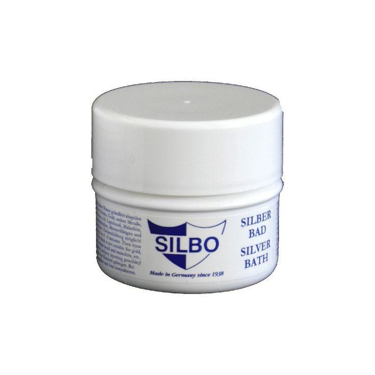 Silbo Silber-Tauchbad Silber-Tauchbad der Marke Silbo. Das ideale Reinigungsbad für Silberschmuck wie Ringe, Ketten, Armbänder und Ohrringe. Reinigt sanft durch einfaches Tauchen. Mit praktischem Tauchsieb. Das Tauchbad enthält 150ml.
