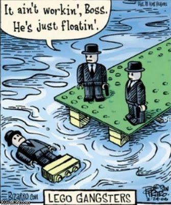 Funny Lego Gangsters Joke Cartoon Picture | Funny Joke Pictures