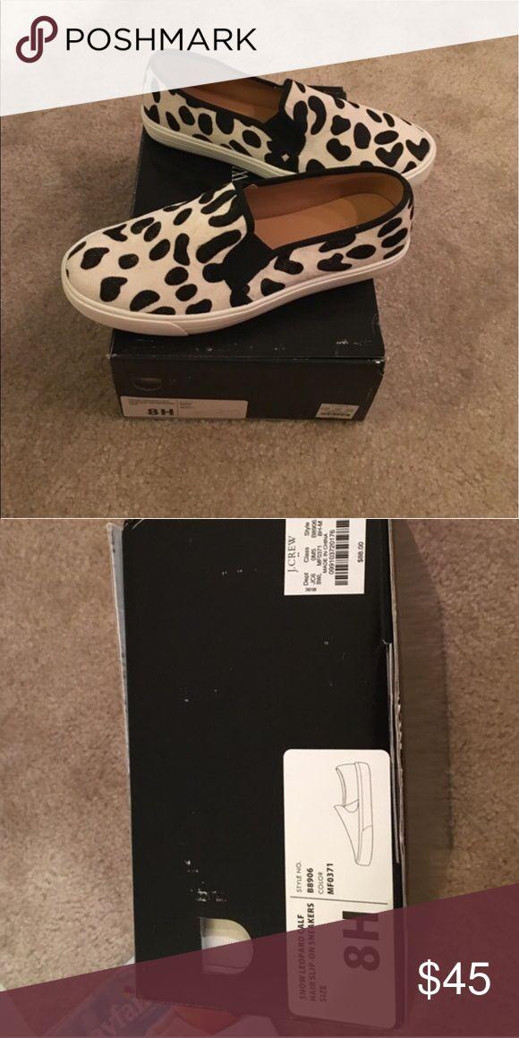 J. Crew leopard print slip on sneakers J.Crew leopard print slip on sneakers worn 2xs J. Crew Shoes Sneakers