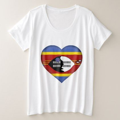 #Swaziland Flag Plus Size T-Shirt - #country gifts style diy gift ideas