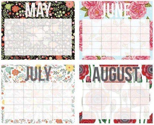 Распечатки для вашего ежедневника