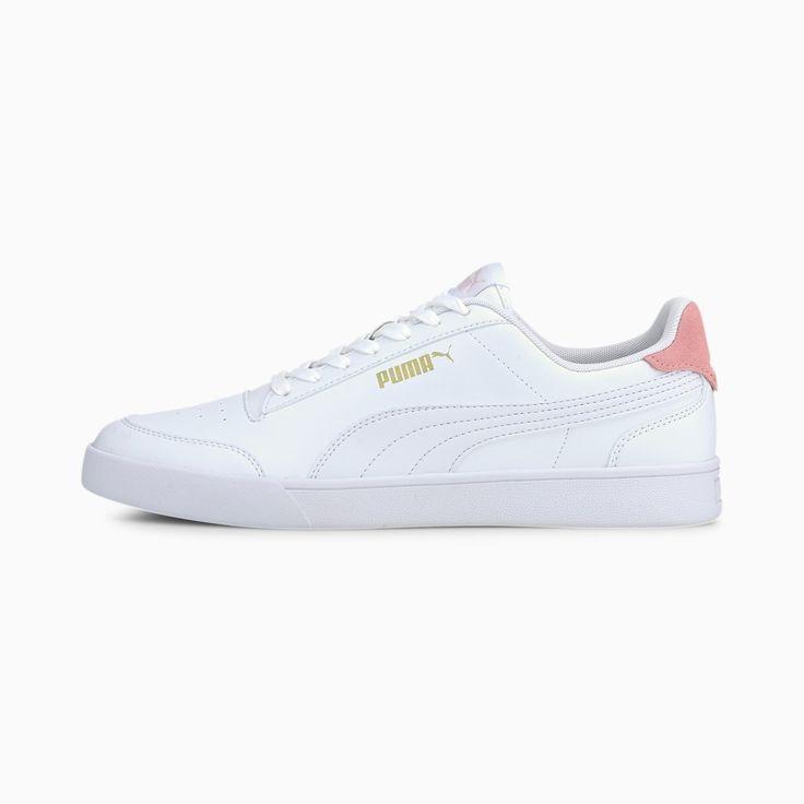 PUMA Shuffle Basket Schuhe, Gold / Pink / Weiß, Größe 38, Schuhe ...