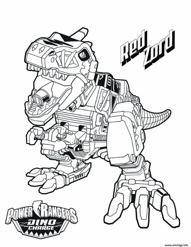 Coloriage Power Ranger Dino Super Charge Power Rangers Coloring