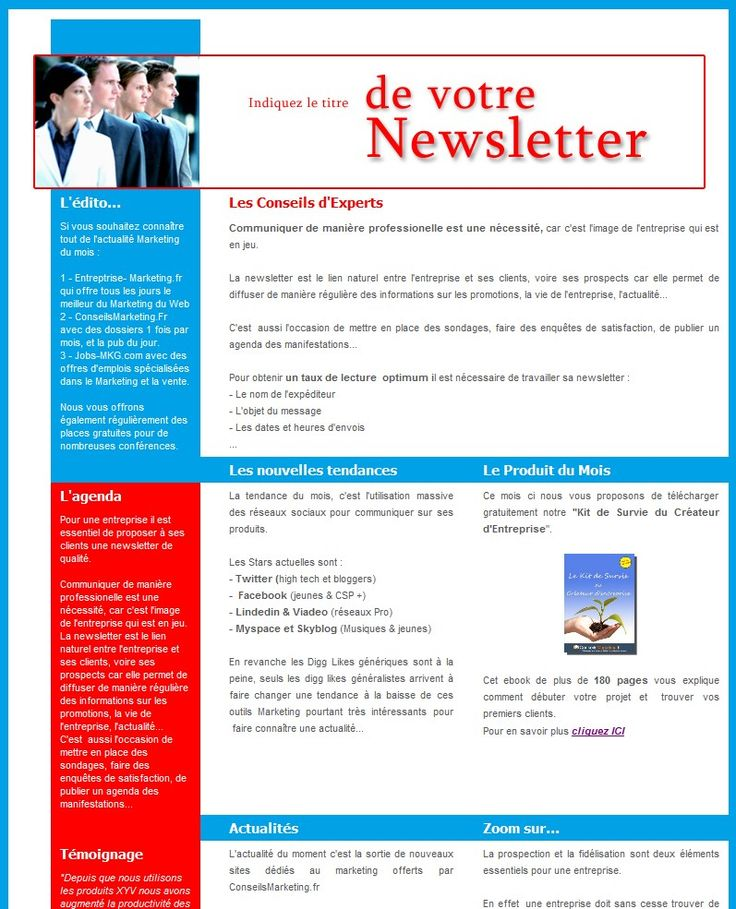 18 modèles de newsletters et d'emailings gratuits ...