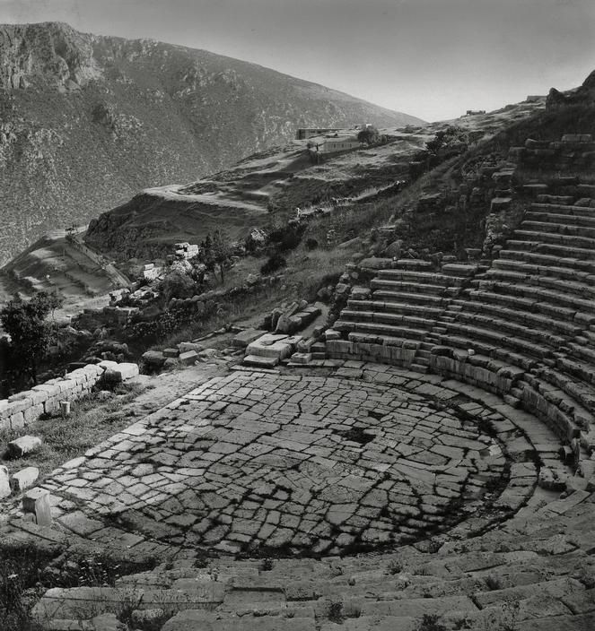 © Herbert List/Magnum Photos GREECE. Peloponnese. Delphi. Theater. 1937.