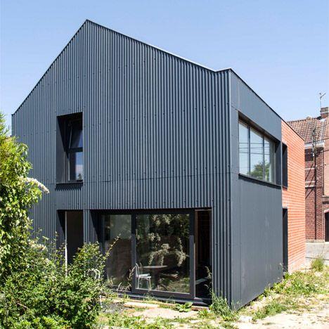 Maison B - Yoda Architecture. Corrugated Iron and brick exterior