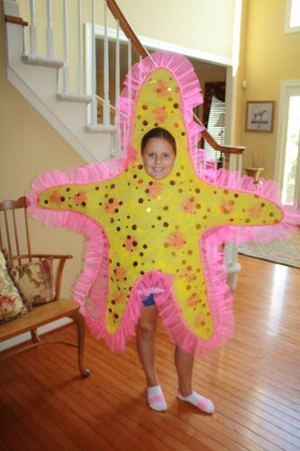 THE Little Mermaid Yellow Star Fish Costume Handmade O S BOY Girl 12 14 16 18 20 | eBay