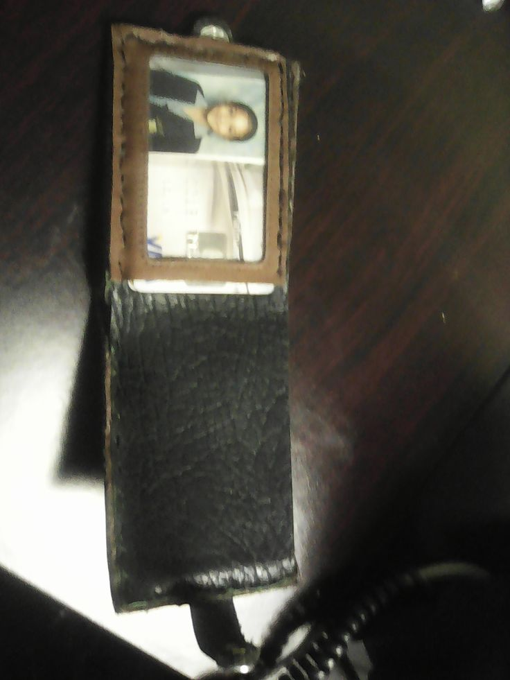 Inside view - with all pieces stitched inside cover of trimmed wallet.