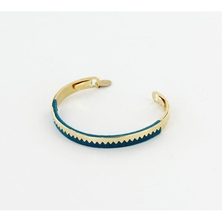 bracelet jonc inca dor bleu canard bijoux fantaisie bijoux medecine douce
