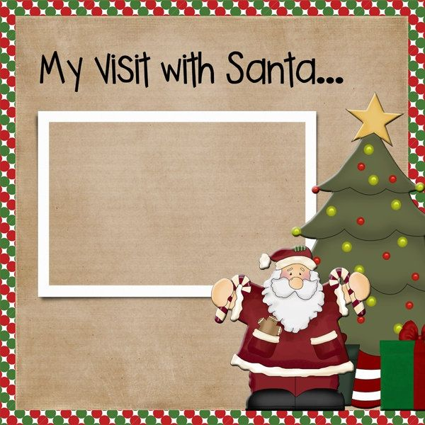 "12x12 Premade CHRISTMAS Digital Scrapbook Page DIGITAL FILE ""My Visit with Santa"". $5.00, via Etsy."