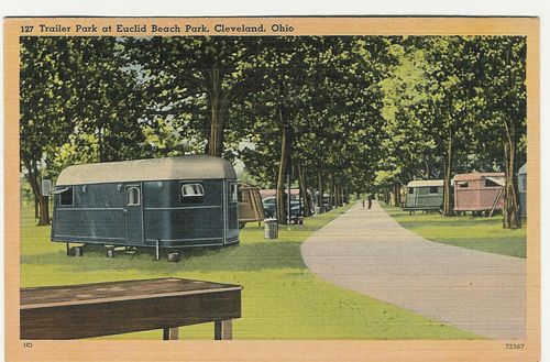 Airstream For Sale Bc >> vintage travel trailer postcards | pm 1942 trailer park at