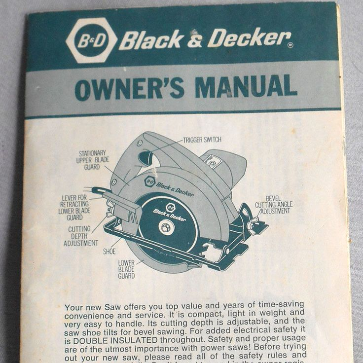 Vtg instructions guide black decker circular saw 7300 owners vtg instructions guide black decker circular saw 7300 owners manual power tool blackdecker advertising print pinterest greentooth Choice Image