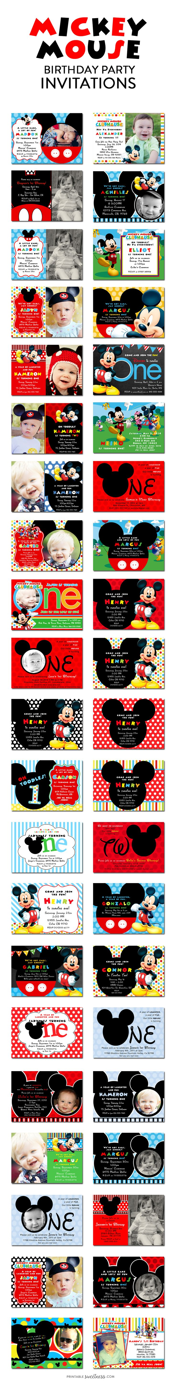 So Many Mickey Mouse Birthday Party Invitations to Choose From!