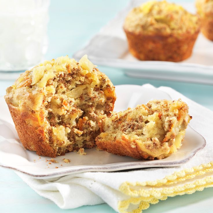 These muffins have a tropical twist that is deliciously complimented by the flavours of ginger and allspice.
