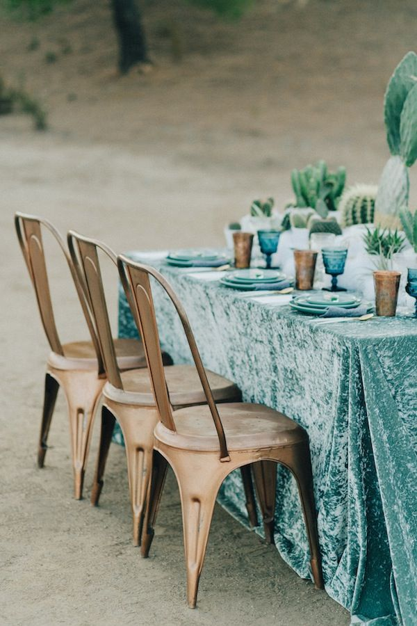 OMG love the crushed turquoise velvet!  cactus and poly fill?.....not so much!