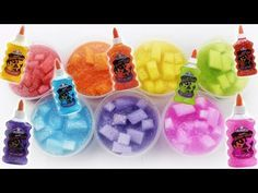 HOW TO MAKE JELLY CUBE SLIME! ELMERS GLITTER GLUE JELLY CUBE SLIME! BEST SLIME DIY! ASMR - YouTube