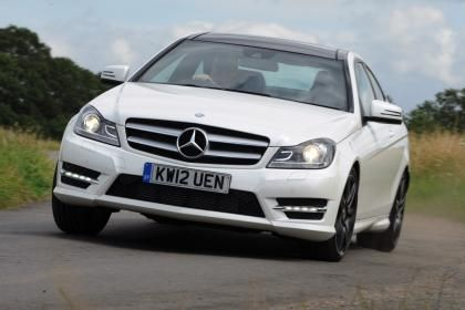 Mercedes C180 Coupe front cornering